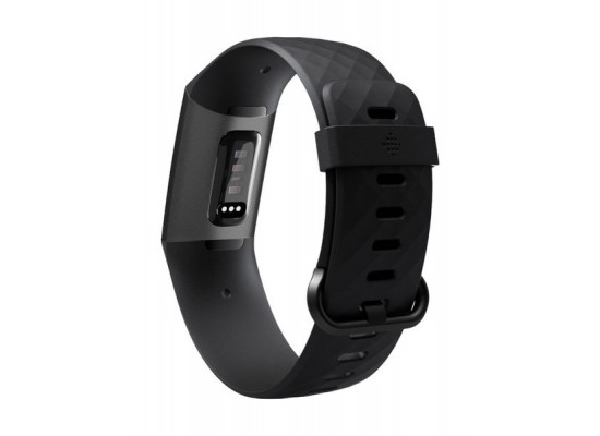 Fitbit Charge 3 Fitness Wristband (FB409GMBK-EU) - Black/Graphite Aluminum