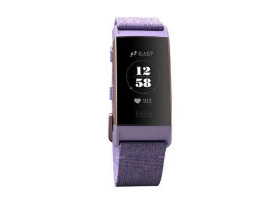 Fitbit Charge 3 Fitness Wristband Special Edition (FB410RGLV-EU) - Lavender  Woven