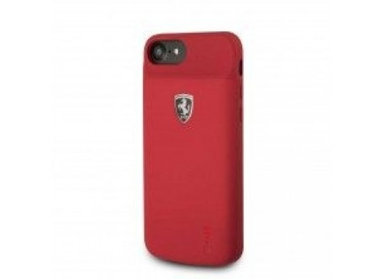 new product eff3b 0f422 Ferrari 2800mAh Battery Case For iPhone 8 (FEOFOPCFCI8) - Red