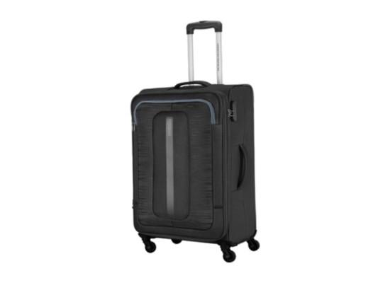 American Tourister 55CM Black Brisbane Spinner Soft Luggage in Kuwait | Buy Online – Xcite