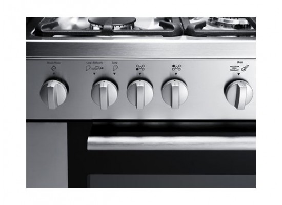 Frigidaire 90x60 5-Burner Free-Standing Gas Cooker (FNGE90JGRSO) - Silver