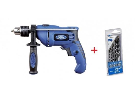 Ford 600W Impact Drill + Drill Bits 1