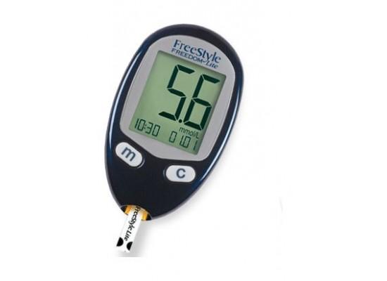 Omron M3 IT Arm Blood Pressure Monitor + Freedom Lite Blood Glucose Machine + Digital Weighing Scale