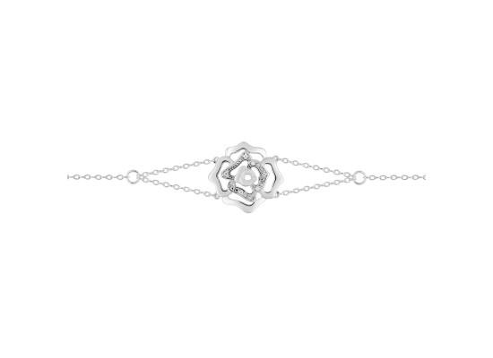 Fontenay Ladies Bracelet - Brass - Rhodium Plated  (FSB370Z18E)