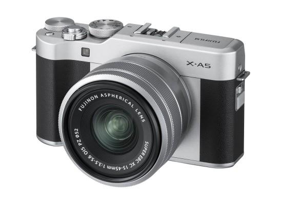 FujifilmX-A5 Mirrorless Digital Camera + 15-45mm Lens - Silver