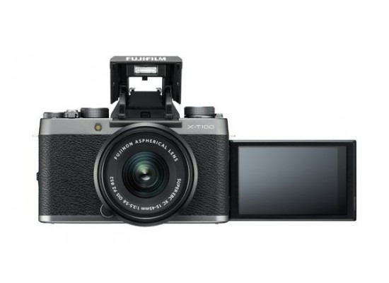Fujifilm X-T100 Mirrorless Digital Camera w/ XC15-45mm Lens - Silver