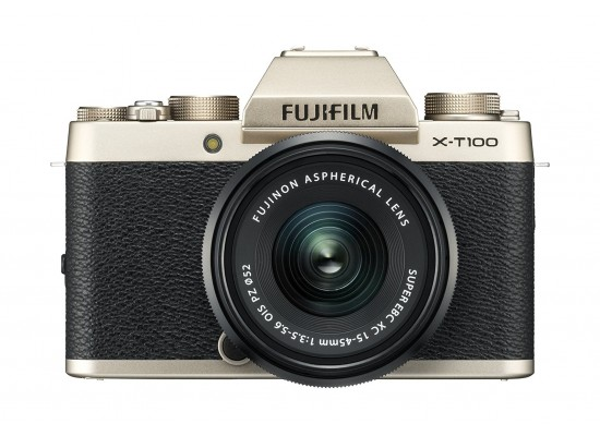 Fujifilm X-T100 Mirrorless Digital Camera w/ XC15-45mm Lens - Gold