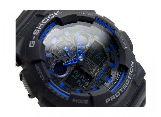 Casio G Shock Resin Band Sport Watch For Men Ga 100 1a2dr
