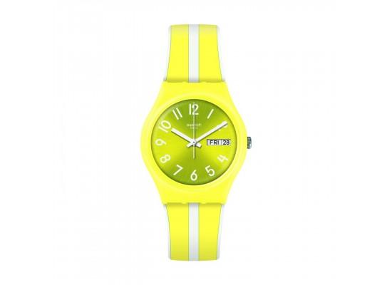 Swatch Lemoncello Quartz Analog 34mm Unisex Rubber Watch (GJ702)