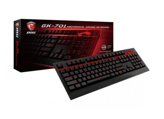 MSI Backlit Mechanical Gaming Keyboard (GK-701) – Black