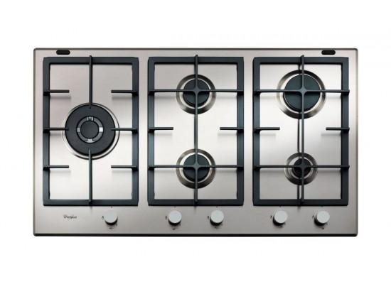 Whirlpool 90cm 5-Burners Built-in Gas Hob (GMA 9522 IX) – Silver