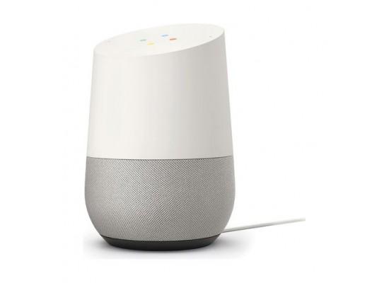 Google Home Assitant Speaker – White side view