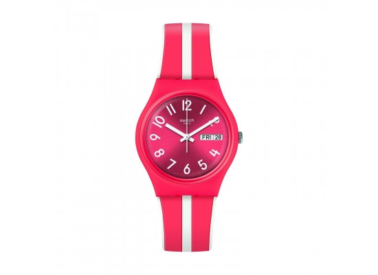 Swatch Sanguinello Quartz Analog 34mm Unisex Rubber Watch (GR709)