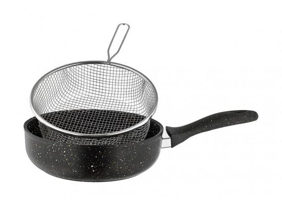 Saflon 28CM Deep Fryer With Basket - GSA061