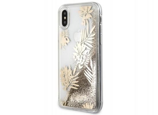 online retailer 8e814 81526 Guess Glitter Case For iPhone X - Gold