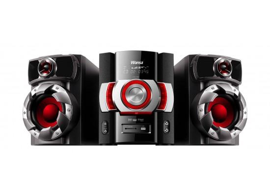 Wansa Bluetooth CD/DVD/USB Mini Speaker System (HF-0120) - Black
