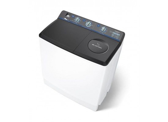 Hitachi 16KG Twin Tub Washing Machine (PS-1605J) - White/Black