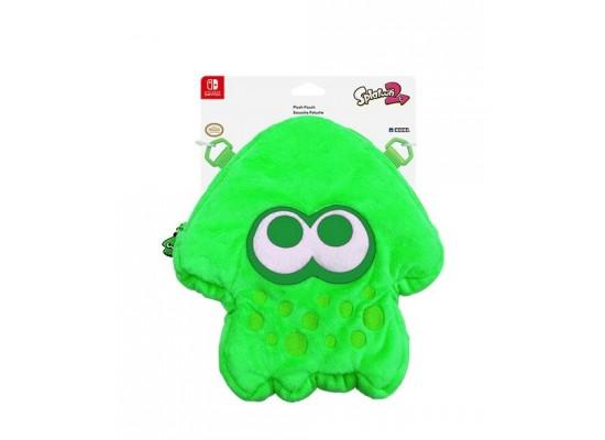 Hori Splatoon 2 Squid Plush Pouch for Nintendo Switch - Neon Green