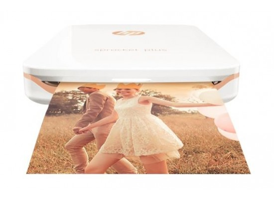 HP Sprocket Plus Portable Photo Printer (2FR85A) - White