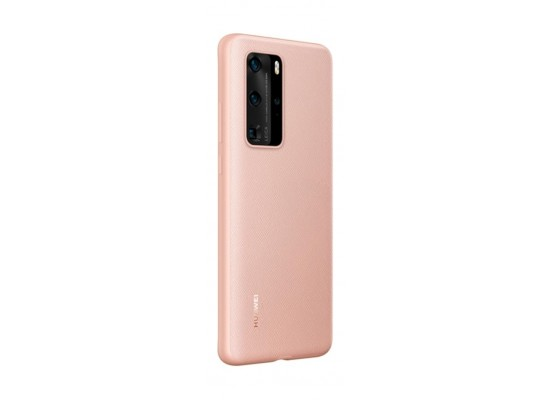 Huawei P40 Pro Leather Back Case (51993791) - Pink