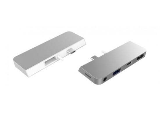 HyperDrive HyperDrive Surface GO USB-C 4in1 Hub - Grey
