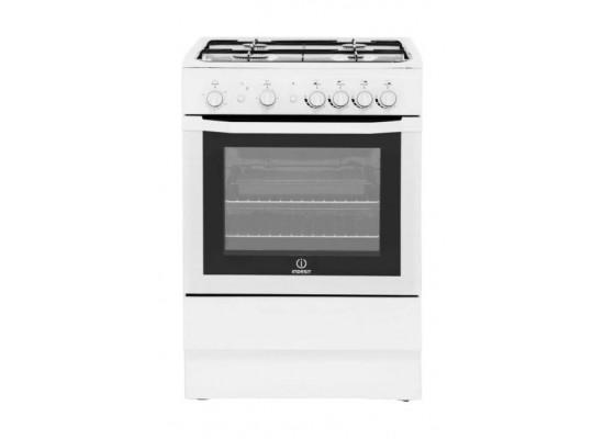 Indesit 60x60CM 4-Burner Free Standing Gas Cooker + Wansa 60cm Built Under Cooker Hood