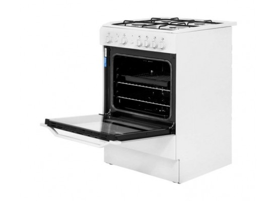 Indesit 60x60CM 4-Burner Free Standing Gas Cooker (I6GG1) - White