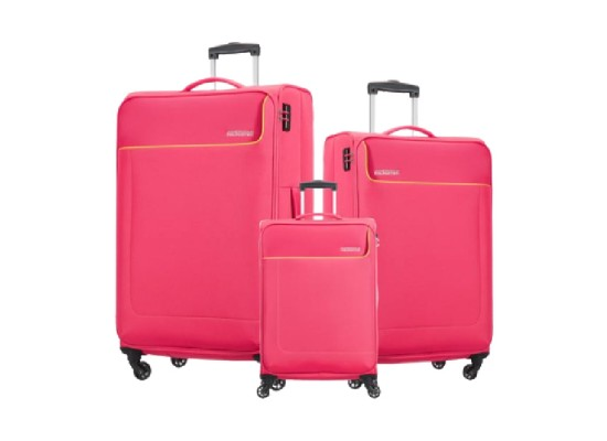 American Tourister Jamaica Trolley Set of 3 (27OX20003 ) - Pink