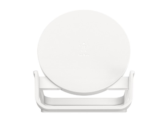 Belkin BOOST CHARGE 10W Fast Wireless Charging Stand + Quick Charge 3.0 wall Charger - White
