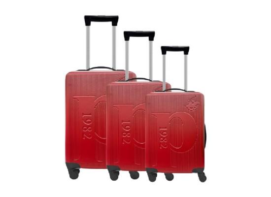 U.S Polo Luggage Set of 3 75.5X48X30 CM - Red