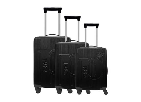 U.S Polo Luggage Set of 3 75.5X48X30 CM - Black