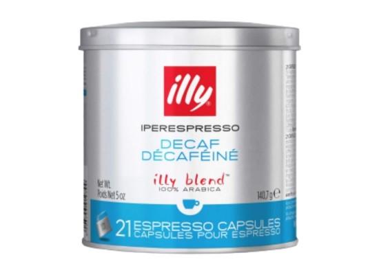 Illy Decaffeinated Espresso Coffee 21 Capsules - Blue