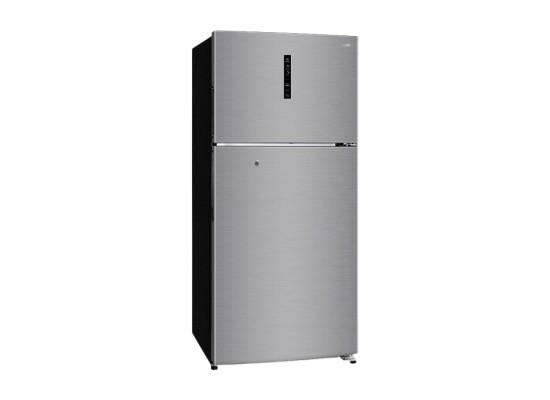 Haier 27 CFT Top Mount Refrigerator (HRF-780FPI DP) - Silver