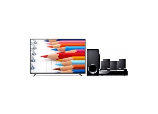 Wansa 55 inch 4K Ultra HD Smart LED TV WUD55G8862S + Sony DVD Home Theatre System 5.1CH 300W