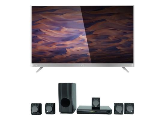 Wansa 55 inch 4K Ultra HD Smart LED TV + Wansa 5.1Ch 185W Bluetooth Home Theatre (WHT1503)