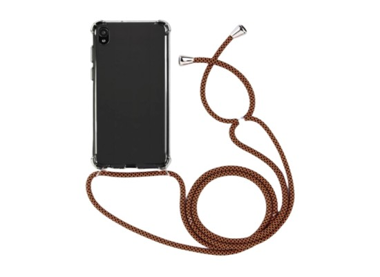 EQ Necklace String Huawei Y5 2019 Case - Brown Strap
