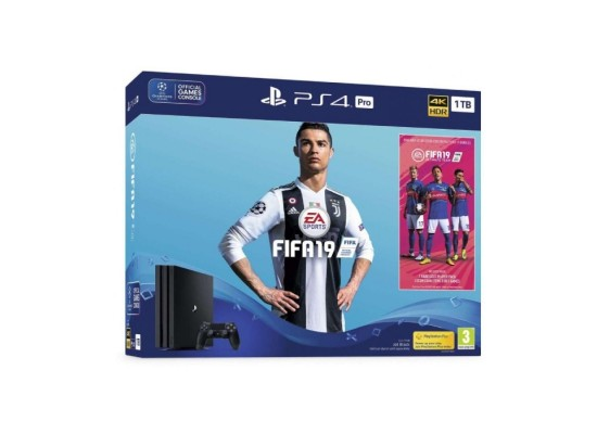 FIFA 20 Standard Edition - PlayStation 4 Game + Sony PlayStation 4 Pro 1TB with FIFA19 Gaming Console