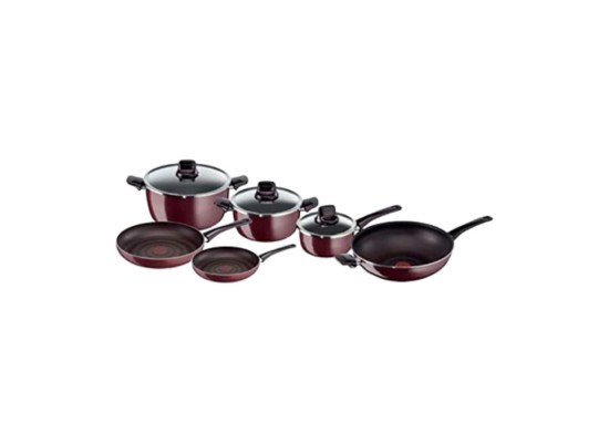 Buy Tefal Pleasure 9 Piece Cookware Set online at the best price in Kuwait. Shop Online and get new cooking set type with free shipping from Xcite Kuwait.