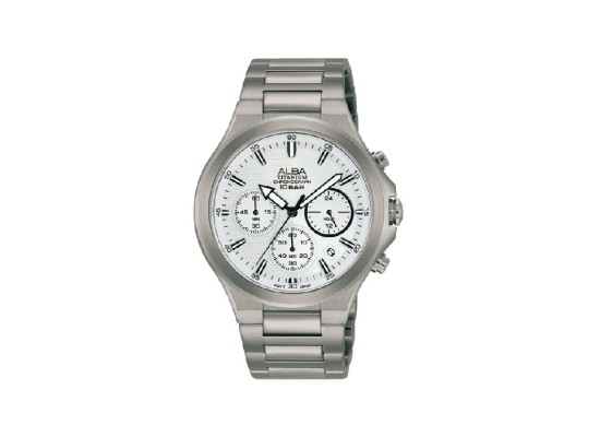 Alba 40mm Chronograph Gents Metal Casual Watch (AT3G69X1)