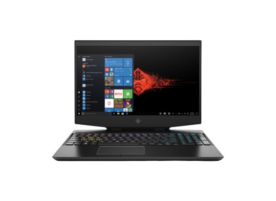 "HP Omen 15-dh0002ne Gaming Laptop, 15.6"" FHD, 9th Gen Intel® Core™ i9, 32GB RAM, 512 GB SSD + 32 GB Optane, NVIDIA GeForce RTX 2080 8GB Graphics, Windows 10 Home, EN-AR KB, Black"