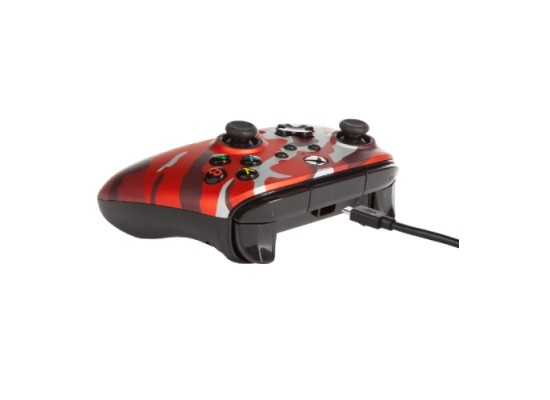 PowerA Enhanced Xbox Series X S Wired Controller Metallic Camo Red in Kuwait   Buy Online – Xcite
