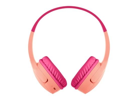 Belkin SoundForm Mini Wireless On-Ear Pink Kids Headphones in Kuwait | Buy Online – Xcite
