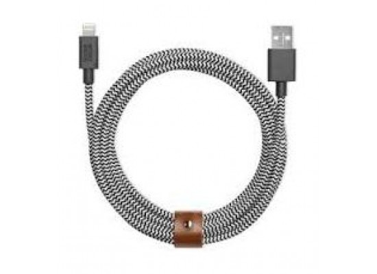 Native Union Belt Lighting To USB Cable – 1.2M – Zebra