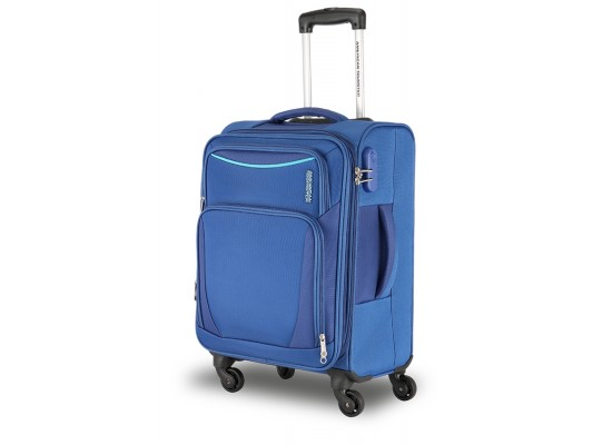 American Tourister Portland 4 Set Luggage With Football - Blue