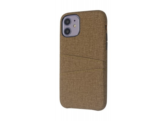 EQ iPhone 11 Blank Pocket Back Case - Brown