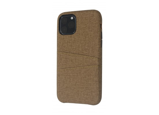 EQ iPhone 11 Pro Blank Pocket Back Case - Brown