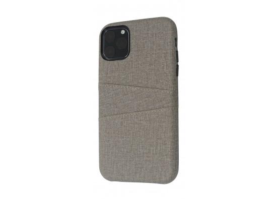 EQ iPhone 11 Pro Max Blank Pocket Back Case - Grey