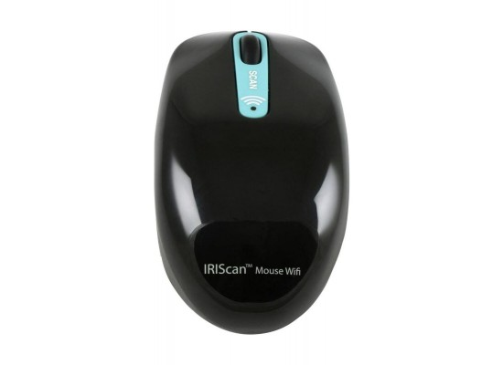 Iris 458735 Wireless Mouse Scanner Black - Top View