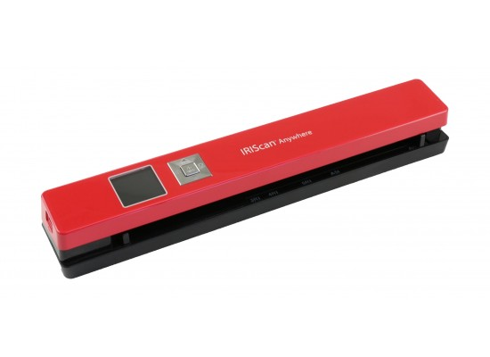 IRIS 458843 TFT Display Portable Scanner Red - Horizontal Slide View