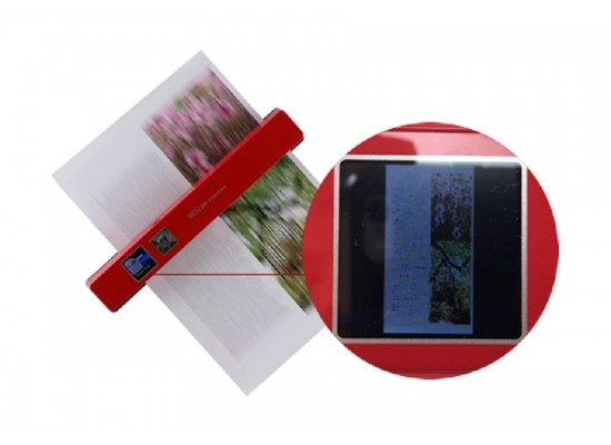 IRIS 458843 TFT Display Portable Scanner Red - Scan View